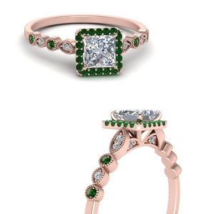 vintage-princess-cut-diamond-engagement-ring-with-emerald-in-FD121599PRRGEMGRANGLE3-NL-RG