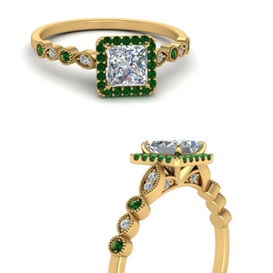vintage-princess-cut-diamond-engagement-ring-with-emerald-in-FD121599PRRGEMGRANGLE3-NL-YG