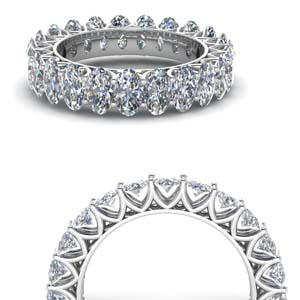 V Prong Diamond Eternity Band