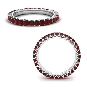 2 Ct. Ruby Eternity Wedding Band