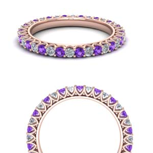 Eternity Band With Purple Topaz