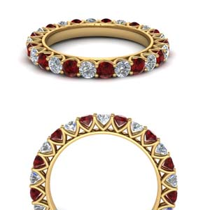 Classic Round Ruby Eternity Band