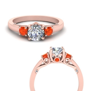 classic-three-stone-orange-topaz-engagement-ring-with-underneath-scroll-in-FD123398RORGPOTOANGLE3-NL-RG