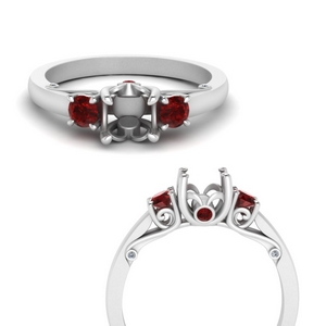 classic-semi-mount-three-stone-ruby-engagement-ring-with-underneath-scroll-in-FD123398SMRGRUDRANGLE3-NL-WG