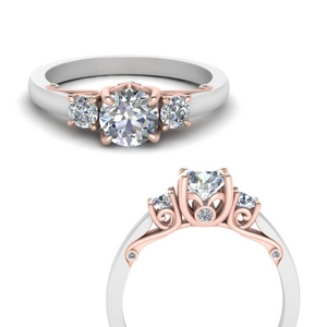 classic-2-tone-round-3-stone-diamond-engagement-ring-in-FD123398TRORANGLE3-NL-RG