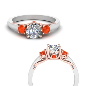 classic-2-tone-round-3-stone-orange-topaz-engagement-ring-in-FD123398TRORGPOTOANGLE3-NL-RG