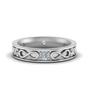 1/2 Ct Infinity White Gold Band
