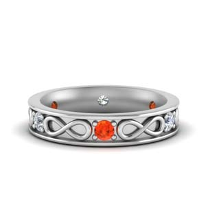 Half Carat Orange Topaz Band