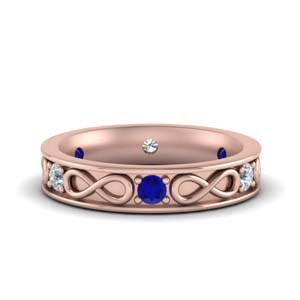 Rose Gold Sapphire Anniversary Band