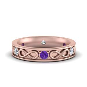 Infinity Purple Topaz Anniversary Band