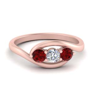 Round Cut Ruby Engagement Ring