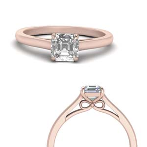 Bow Design Solitaire Ring