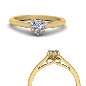 Bow Pattern Single Diamond Ring