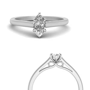 Bow Design Marquise Diamond Ring