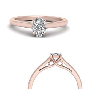 Single Oval Shaped Diamond Ring