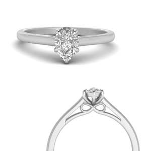 Bow Design Pear Diamond Ring