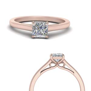 Cathedral Princess Diamond Ring