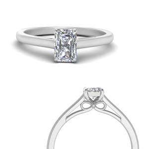 Radiant Cut Solitaire Rings