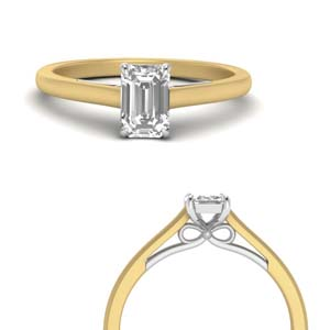 Single Emerald Cut Diamond Ring