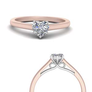 Beautiful Heart Diamond Solitaire Rings