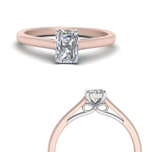 Radiant Cut Solitaire Lab Diamond Rings
