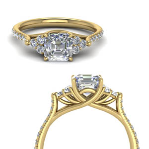 Yellow Gold Diamond Petite Ring