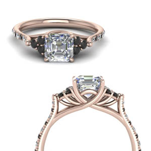 Black Diamond Petite Diamond Ring