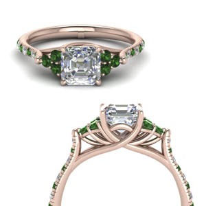 Emerald Petite Cathedral Ring