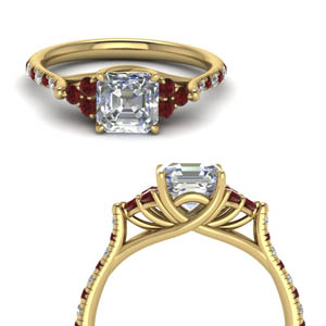 Yellow Gold Ruby Petite Ring