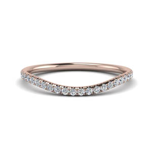 French Pave Curve Band
