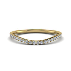 French Pave Contour Wedding Band