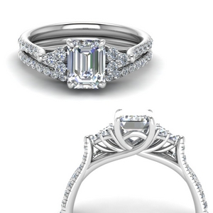 Emerald Diamond Ring And Band