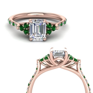 Petite Cathedral Emerald Ring
