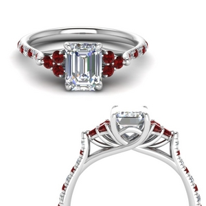 Cathedral Ruby Engagement Ring