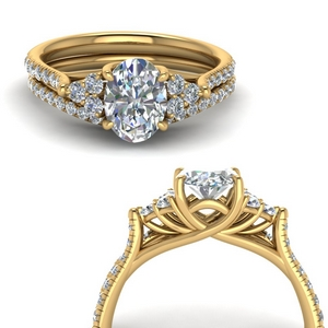 Oval Wedding Sets