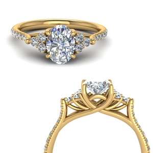 3 Ct. Oval Trellis Engagement Ring