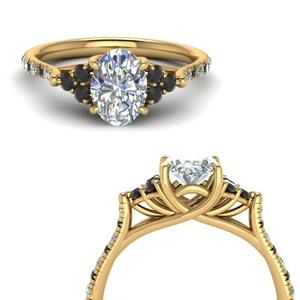 Unique Black Diamond Wedding Ring