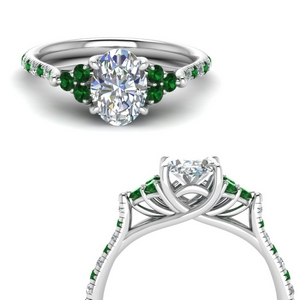 3 Carat Emerald Trellis Ring