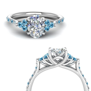 Diamond Trellis Ring With Topaz