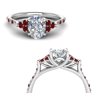 Oval Trellis Cathedral Wedding Ring
