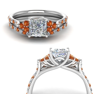 Platinum Wedding Ring Set