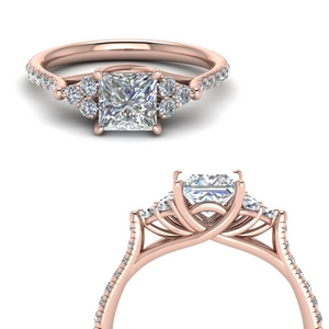 Princess Cut Trellis Diamond Ring