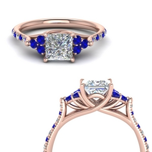 Sapphire Cathedral Ring