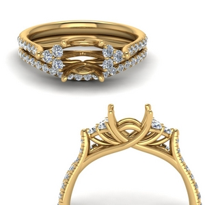 Semi Mount Wedding Set