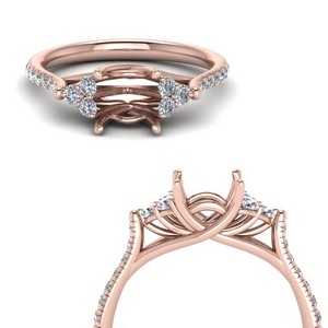 Cathedral Diamond Ring Setting