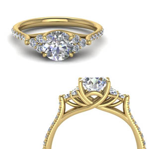 Diamond Round Petite Cathedral Ring