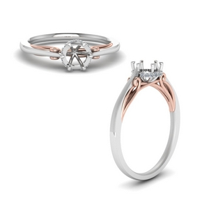Semi Mount Delicate 2 Tone Ring