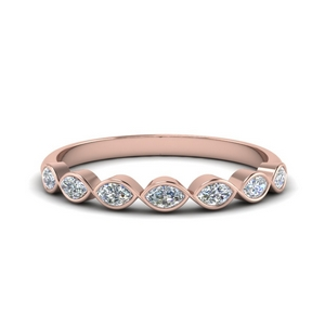 Rose Gold 7 Stone Marquise Band