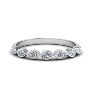 White Gold Marquise Diamond Band