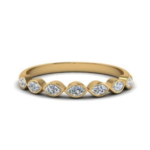 18K Gold Diamond Women Wedding Band